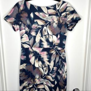 London Times floral leaf dress size 8P